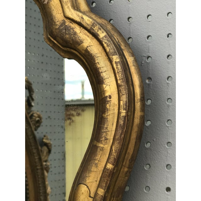 French 19th C. French Giltwood Mirror For Sale - Image 3 of 5