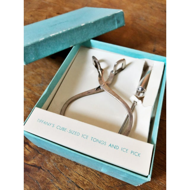 1950s 1950s Tiffany & Co Sterling Silver Ice Tongs and Pick - a Pair For Sale - Image 5 of 11