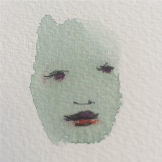 Lori Fox Abstract Watercolor Face 003 - Image 4 of 5