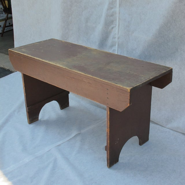 19th Century Antique Red Bench - Image 6 of 11
