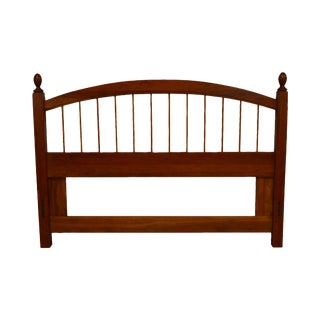 Custom Solid Cherry Queen Size Spindle Headboard For Sale