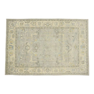 Contemporary Turkish Oushak Rug With Transitional Style - 10'03 X 15'01 For Sale