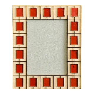 Red Jasper Photo Frame by Fabio Ltd For Sale