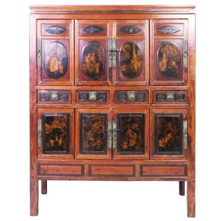 20th Century Chinese Large 8 Door Cabinet For Sale
