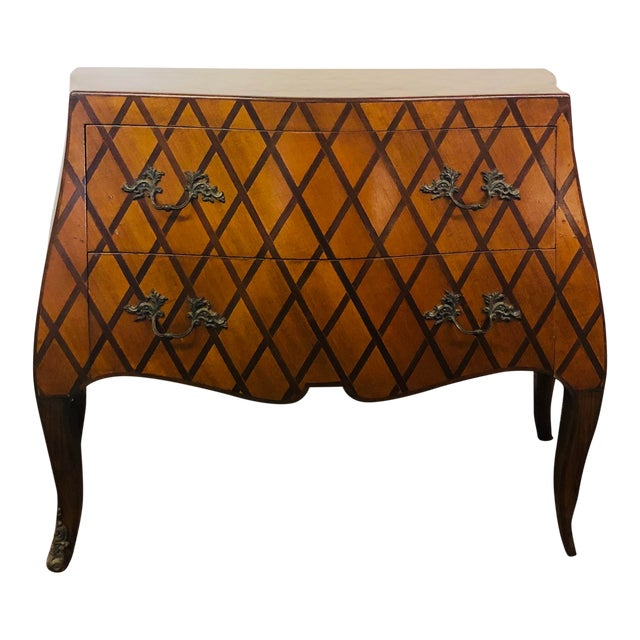 Vintage Trouvailles Bombe Style Dresser For Sale