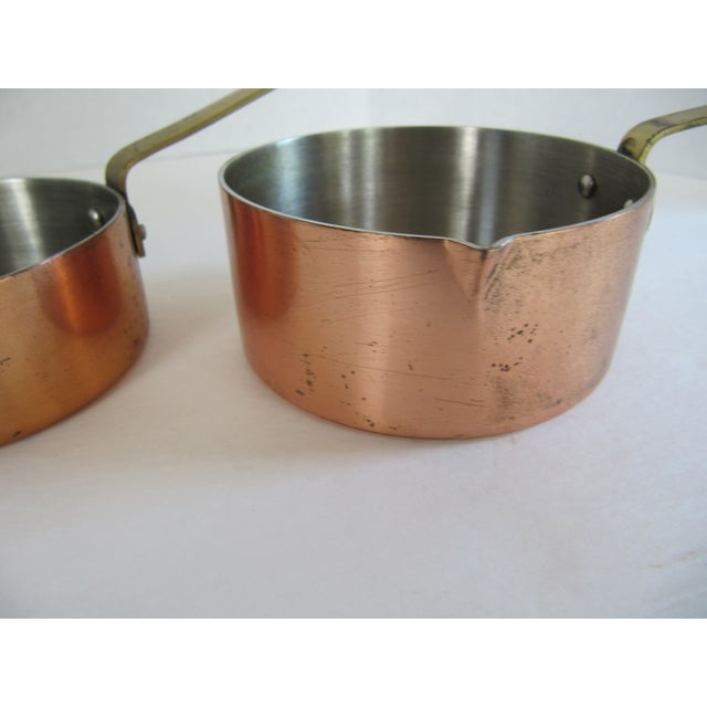 Copper & Brass Measuring Cups - Set of 4 For Sale - Image 6 of 8