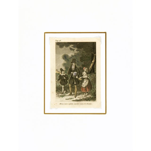 Traditional Antique Engraving - the Path, C. 1860 For Sale - Image 3 of 4