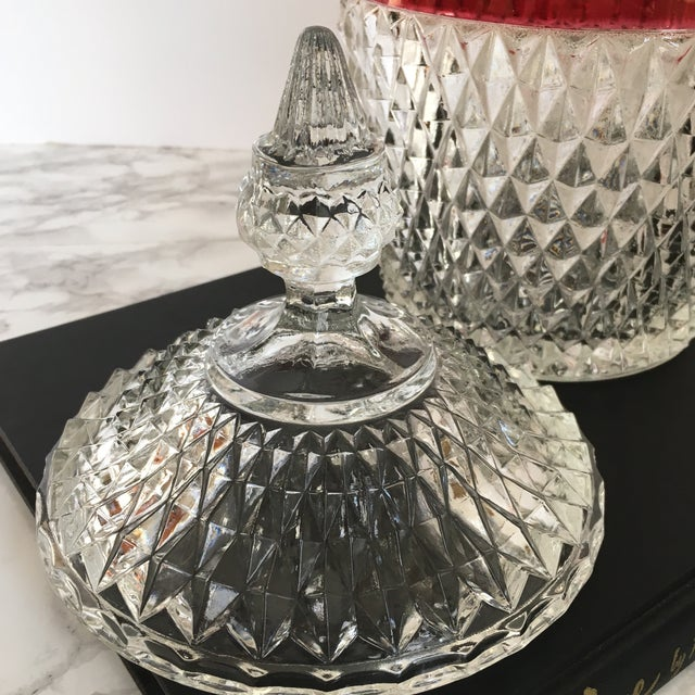 Hobnail Glass Ruby Flash Ice Bucket For Sale In Washington DC - Image 6 of 11