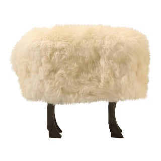 Sheep Ottoman in Bronze and Fur For Sale