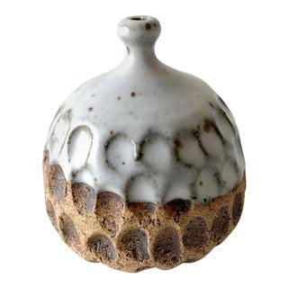 John Jack Feltman Handmade Stoneware Weed Pot Bud Vase For Sale