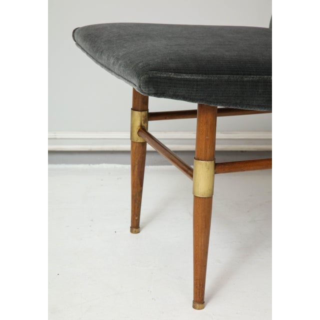 Mid 20th Century Set of Six Italian Mid-Century Modern Dining Chairs, Recently Upholstered For Sale - Image 5 of 11