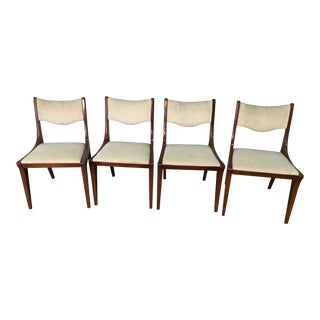 1990s Mid Century Modern Drexel Side Chairs - Set of 4 For Sale