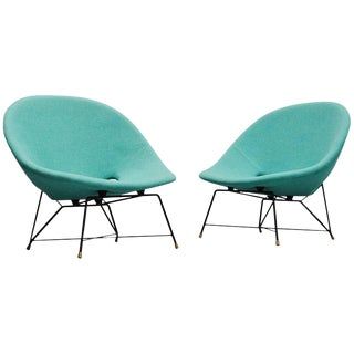 Pair of 1954 Augusto Bozzi Cosmos Lounge Chairs Saporiti Italia For Sale