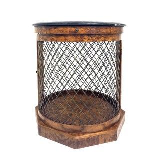 Sarreid Tuscan Walnut Merin Drum Table For Sale