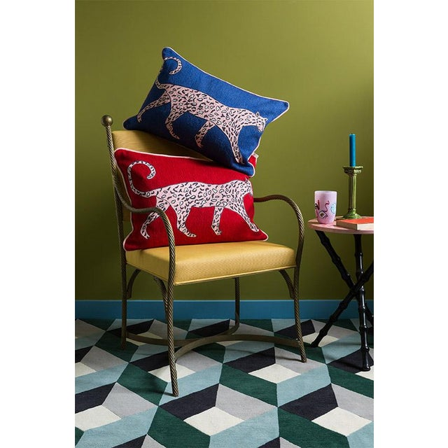 Contemporary Luke Edward Hall for the Rug Company Leopard Ruby Cushion For Sale - Image 3 of 4
