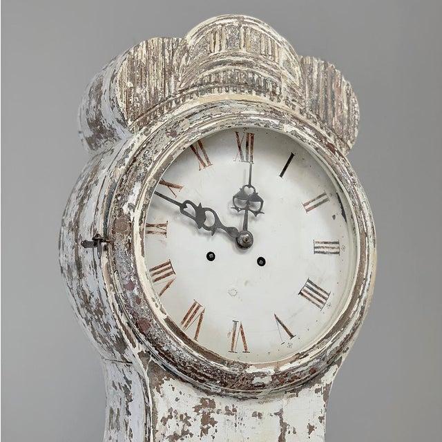 Gustavian (Swedish) 19th Century Swedish Long Case Clock For Sale - Image 3 of 13