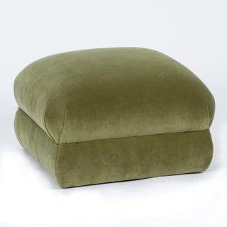 Casa Cosima Milan Ottoman in Olive Velvet, a Pair Preview