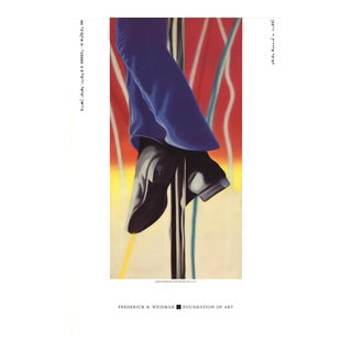 """James Rosenquist Study for Fire Pole 36"""" X 24"""" Poster 1985 Pop Art Blue, Red, Yellow For Sale"""