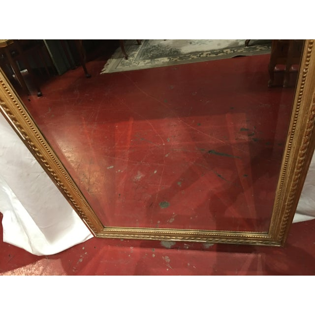 Glass Louis XVI Style Mirror For Sale - Image 7 of 9