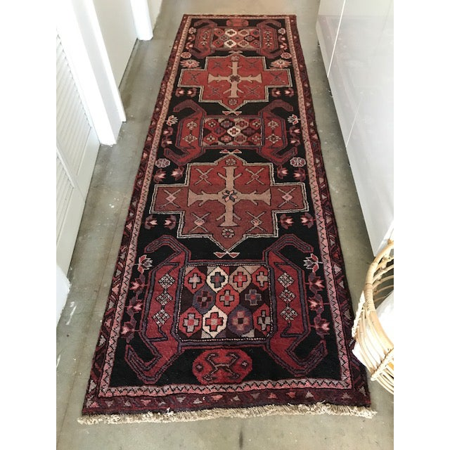 Vintage Persian Area Rug Runner W/ Millennial Pink Accents - Image 5 of 5