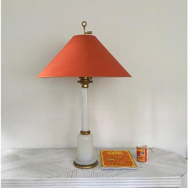 1950s Warren Kessler Nyc White Milkglass Opaline Table Lamp For Sale - Image 12 of 12