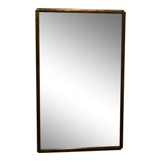 Art Deco Wall Mirror With Distressed Gold Finish For Sale