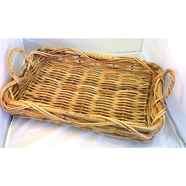 Vintage Decorative Rattan Tray - Image 2 of 8