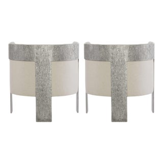 Modern Barrel Back Chairs - a Pair For Sale