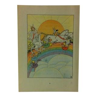 """1927 """"The Rainbow Fairies"""" Across the Rainbow Bridge Print For Sale"""