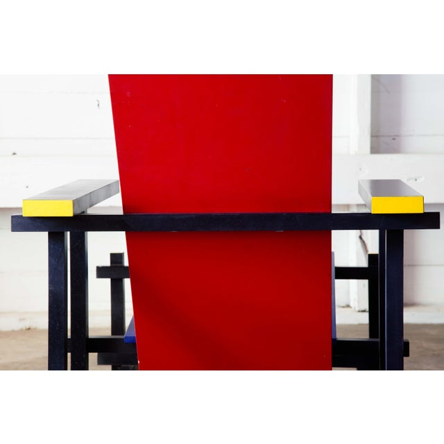Modern Red & Blue Lounge Chair For Sale - Image 9 of 11
