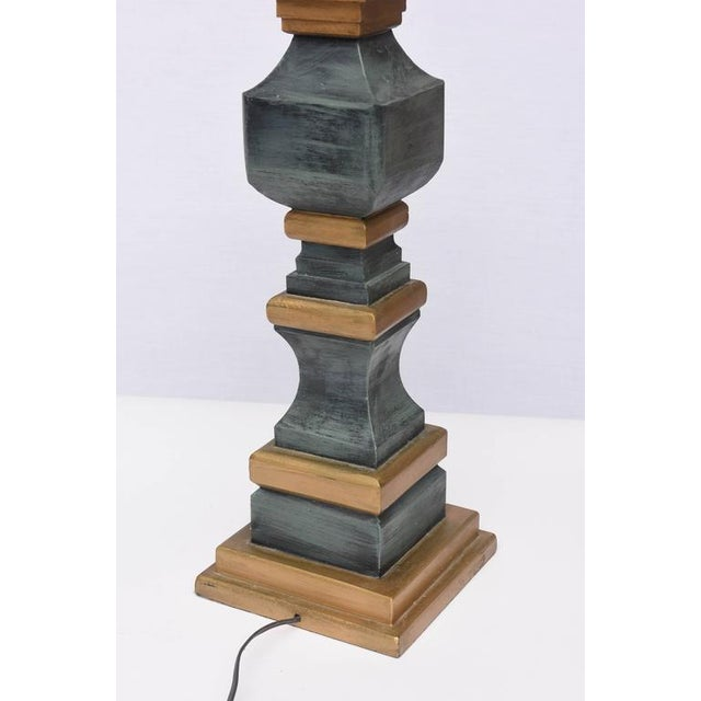 Monumental Wooden Table Lamps, 1960s, USA For Sale In Miami - Image 6 of 10