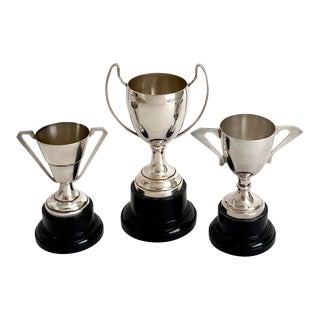 1950s English Silver Trophy Trio - Set of 3 For Sale