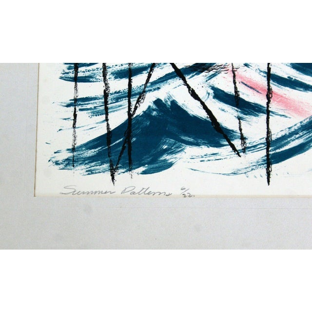 """Modern Mid Century Modern """"Summer Patterns"""" by Emil Weddige Unframed Lithograph For Sale - Image 3 of 5"""