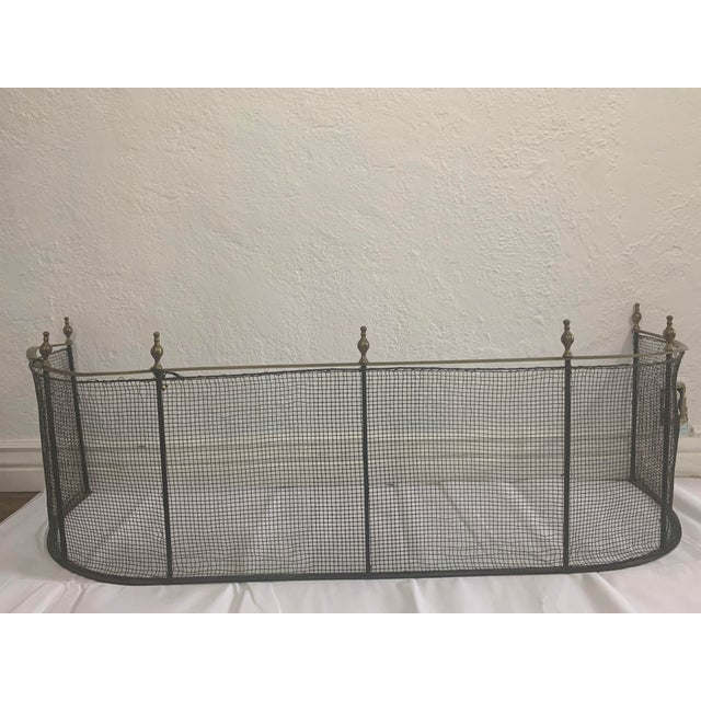 1800 Federal Style Brass and Wire Steeple Top Fire Fender For Sale - Image 11 of 13