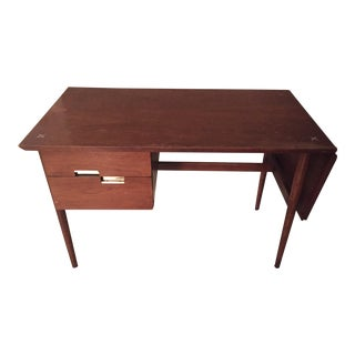 Mid-Century Modern American of Martinsville Pedestal Writing Desk For Sale