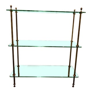 19th Century Vintage English Glass Etagere For Sale
