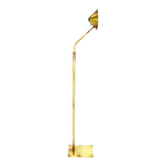 Adjustable Mid-Century Modern Brass Floor Lamp George Kovacs For Sale
