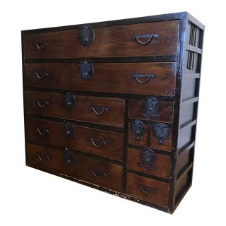 19th Century Vintage Japanese 10 Drawer Tansu Chest