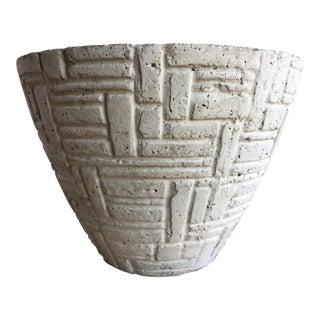Decorative Textured Off White Vase by Three Hands