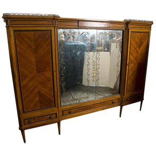 French Directoire Style Wardrobe Cabinet or Armoire by Jansen For Sale