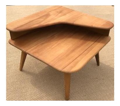 heywood-wakefield mid-century modern end table | chairish