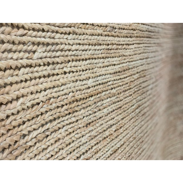 """2010s Hand Woven Jute Rug-5'5"""" X 7'10"""" For Sale - Image 5 of 9"""