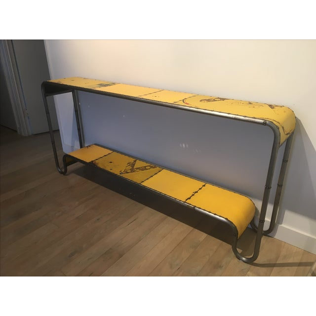Industrial Salvaged Steel Console - Image 4 of 9