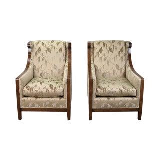 Traditional Dessin Fournir London Club Chairs - a Pair