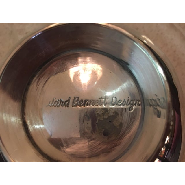Silver Ward Bennett Silverplate Bowl For Sale - Image 8 of 12