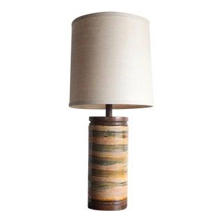 1960s Mid-Century Modern Martz Style Ceramic Lamp For Sale
