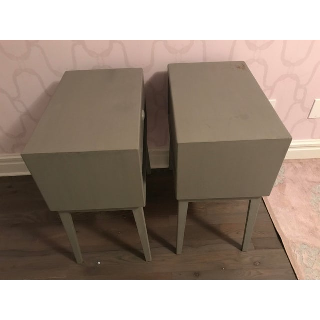 Chelsea House Inc Pair of Mid-Century Teak Chelsea Textiles Bedside Tables For Sale - Image 4 of 8