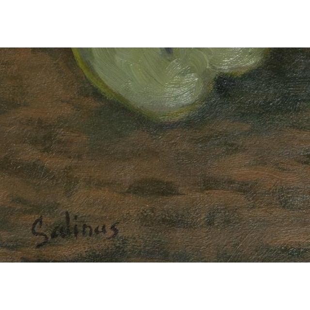 Artist: Laurent Marcel Salinas, Egyptian/French (1913 - 2010) Title: Corbielle de Fruits (411) Medium: Oil on Canvas Size:...