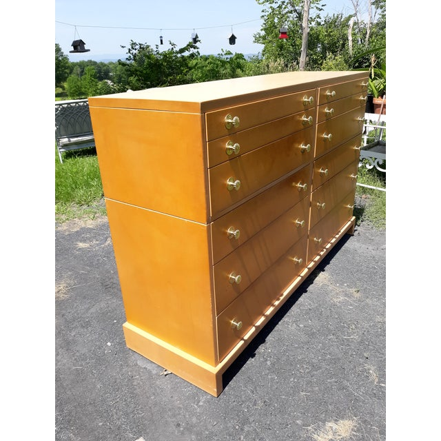 1940's C. G. Kimerly for Widdicomb 12 Drawer Chest For Sale - Image 12 of 13