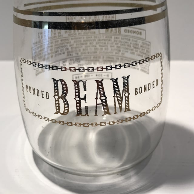 Black Vintage Jim Beam Decanter With 3 Glasses - Set of 4 For Sale - Image 8 of 13